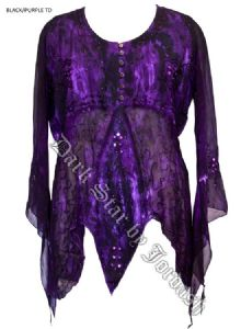 Hippy Top~Georgette Blouse~Fair Trade by Folio~JD/BL/6080V